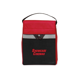 Olympus - Red - Foldable Lunch Cooler With Thermo Lining And Top Grab Handle