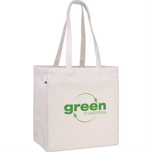 V Natural (tm) - Silkscreen - Recycled Cotton Tote Bag