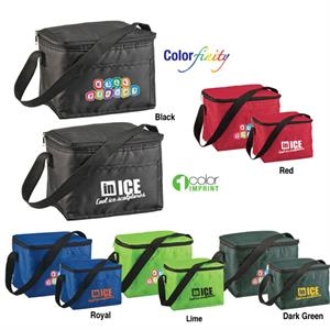 Sale 5-7 Day Production - Six Pack Cooler Bag Holds Six 12 Oz Cans Plus Ice