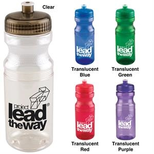 Polyclear (tm) - Catalog 5-7 Day Production - Sport Bottle With Jewel Tone Spill-resistant Pop-top Lid, 24 Oz