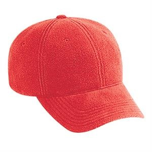 Low Fitting, Six Panel Polyester Micro Fleece Low Profile Pro Style Cap. Blank