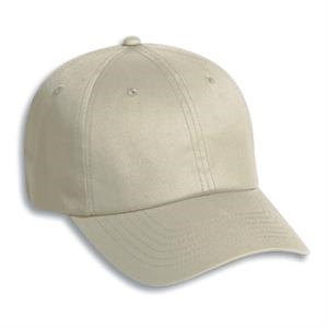 Six Panel Low Profile Pro Style Cap With Adjustable Hook And Loop Closure. Blank
