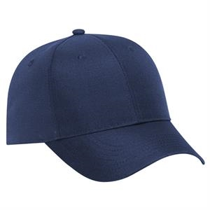 Recycled Canvas Solid Color Six Panel Low Profile Pro Style Cap. Blank