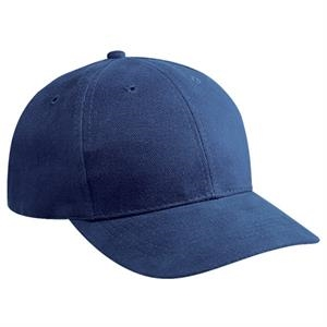 Structured Brushed Bull Denim Pro Style Cap With Metal Press Buckle. Blank
