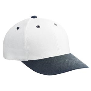 Structured Two-tone Pro Style Cap In Brushed Bull Denim With Firm Front Panel. Blank