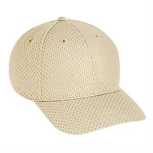 Solid Color Polyester Pro Mesh Structured Pro Style Cap With Gray Undervisor. Blank