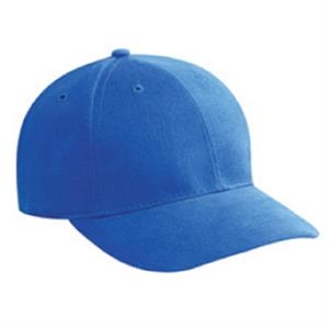 Low Profile, Brushed Bull Denim 100% Cotton Pro Style Cap With Low Fitting. Blank