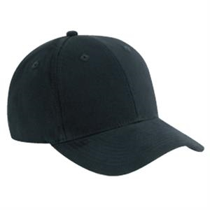 Solid Color, Six Panel Brushed Cotton Twill Pro Style Cap With Low Profile. Blank