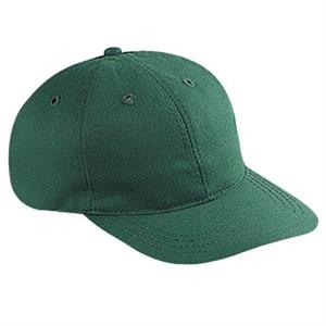 Brushed Cotton Twill Six Panel Pro Style Cap With Bendable Soft Visor. Blank