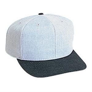 Brushed Two Tone Pro Style 100% Cotton Denim Six Panel Cap. Blank