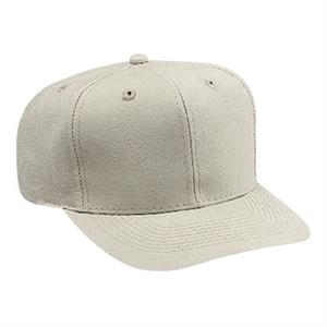 Pro Style Washed Canvas Six Panel Cap With Plastic Snap. Blank