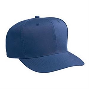 Structured, Solid Color Six Panel Cotton Twill Low Crown Pro Style Cap. Blank