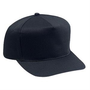Structured Firm Front Panel Pro Style Cap With Plastic Snap And Five Panels. Blank