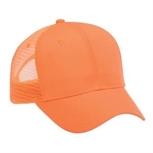 Neon Superior Polyester Canvas Six Panel Mesh Back Cap. Blank