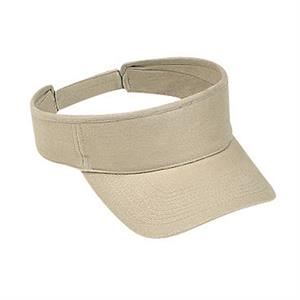 Brushed Cotton Bull Denim Sun Visor With Adjustable Hook And Loop. Blank