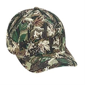 Stretchable, Structured Six Panel Cotton Twill Pro Style Camouflage Cap. Blank