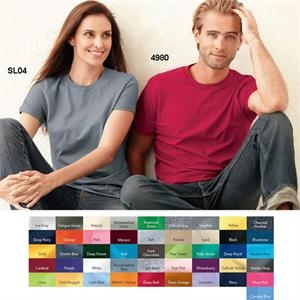 Hanes (r) Nano-t(tm) - Colors S- X L - Adult Size Lightweight Ringspun Cotton Jersey T-shirt. Blank Product