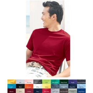 Hanes (r) Ecosmart (r) - Neutrals 2 X L-4 X L - Adult 5.2 Oz Pre-shrunk 50% Cotton/50% Polyester T-shirt. Blank Product