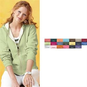 Comfort Colors - Colors 2 X L - Ladies Pigment Dyed Full Zip Hooded Sweatshirt. Blank Product