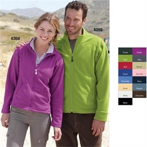 Colorado Clothing (tm) - S- X L - Ladies' Lightweight Microfleece Full-zip Jacket. Blank Product
