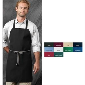 "Chef Designs (r) - White - Standard Bib Apron, 31"" Length. Blank Product"