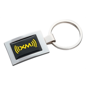 N-dome (tm) - High Polished Rectangular Key Tag With Full Color N-dome