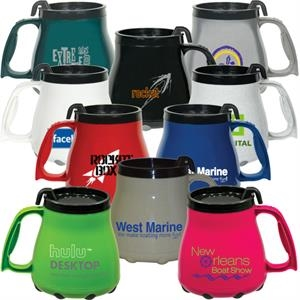 Double Wall Plastic 16 Oz. Travel, Desk Or Boating Mug