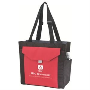 "Embroidery - Shoulder Tote Bag With Side Pockets With 30"" Adjustable Shoulder Straps"