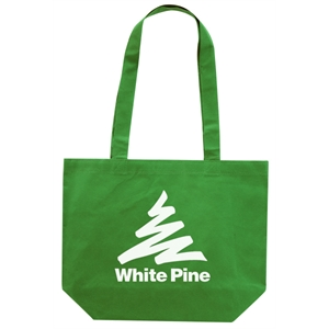 "Silkscreen - Non-woven Carry-all 18"" Tote Bag With 32"" Shoulder Length Straps"