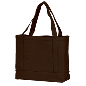 "Silkscreen - Solid Color Tote Bag Made Of 13.5 Oz. Canvas With 22"" Self-fabric Handles"