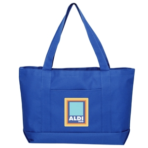 Embroidery - Solid Color Tote Bag Made Of 600-denier Polyester With Vinyl Backing