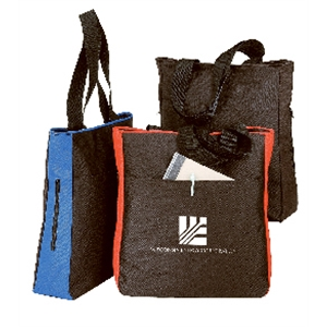 Silkscreen - Polyester Tote Bag With Side Pocket