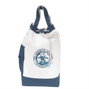 "Embroidery - Two-tone Sling Tote Bag With 14"" Handles And Adjustable 28"" Shoulder Strap"