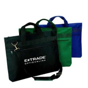 Silkscreen - Polyester Document Portfolio Bag With Carrying Handles And Vinyl Backing