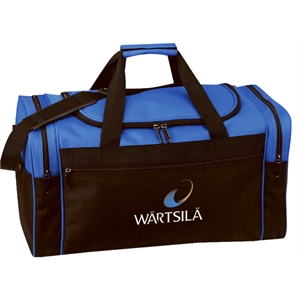"Embroidery - Polyester 20"" Duffel Bag With U-shaped Top Lid And Zippered Front Pocket"