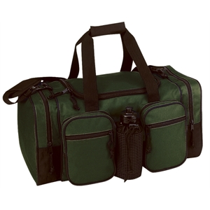 Silkscreen - Polyester Travel Duffel Bag With U-shaped Top Lid And Bottom Stiffener