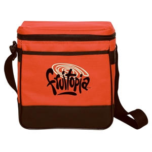 "Silkscreen - Twelve-can Leak-proof Polyester Cooler Bag With 42"" Adjustable Strap"