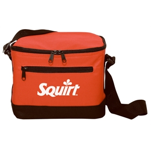 Silkscreen - Six-can Leak-proof Polyester Cooler Bag With Adjustable Strap And Black Trim