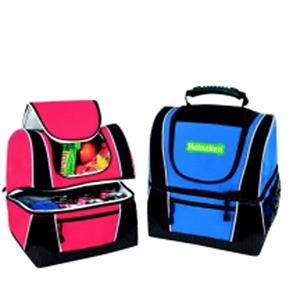 Two-tier Picnic Cooler With Thick Insulation And Velcro (r) Pocket