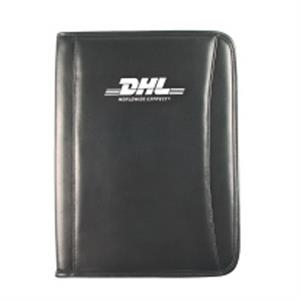 Silkscreen - Padfolio Made Of Simulated Leather With Full-size Gusset Pocket And Pen Loop