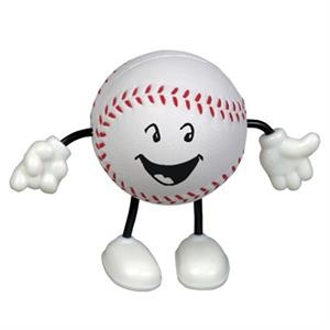 Baseball Figure Shape Stress Reliever With Stock Face