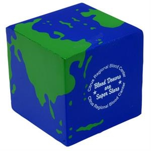 Earth Cube Shape Stress Reliever
