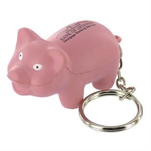 Pig Shape Stress Reliever With Key Chain