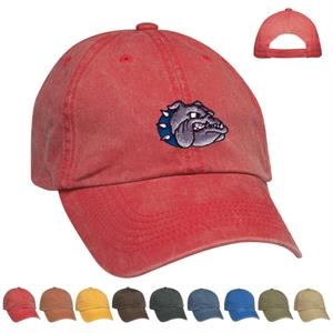 Hitwear (r) - Washed Cotton Twill Cap With Low Profile