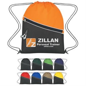 Sports Pack Made Of 80 Gram Non-woven, Coated Water Resistant Polypropylene