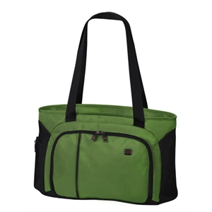 Werks Traveler (tm) 4.0 Collection - Emerald-black - Zippered Shoulder Shopping Tote Bag