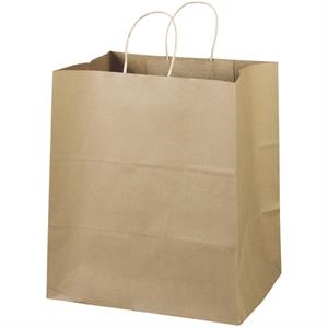 Eco-brute Shopper - Brown Kraft Shopping Bag Made From 100% Recycled Paper