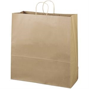 Eco-duke Shopper - Brown Kraft Shopping Bag Made From 100% Recycled Paper