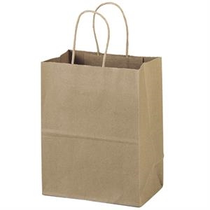 Eco-mini Shopper - Brown Kraft Shopping Bag Made From 100% Recycled Paper