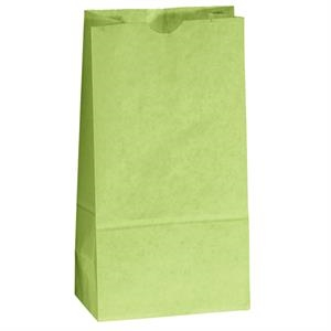 Colored Popcorn Bag With Serrated Cut Top, Side And Bottom Gussets; Unlined